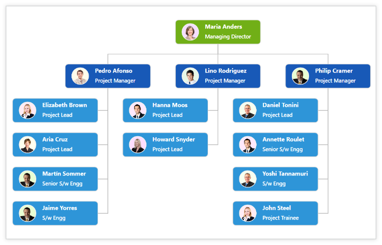 diagram component is used for symbolic representation of data - Create Organization Chart Online