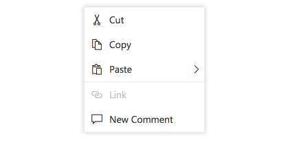 Vue Context menu items with separator