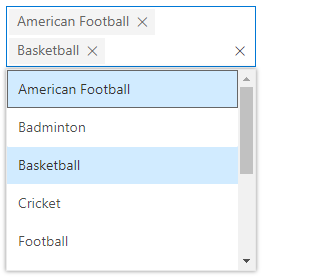 Vue MultiSelect Dropdown with default rendering mode.