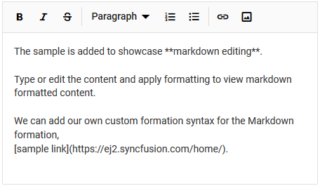Insert markdown hyperlinks in Vue markdown editor.