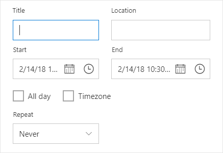 Editor window of scheduler