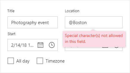 Scheduler editor window displayed with validated fields