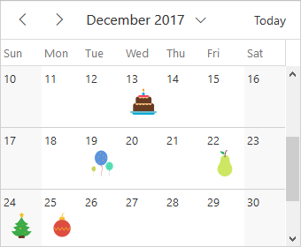 Illustration of cell customization with Vue scheduler
