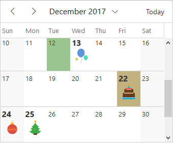 Illustration of complete Vue scheduler customization