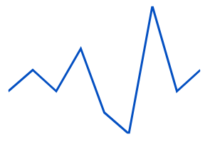 Vue sparkline chart rendered in line type.