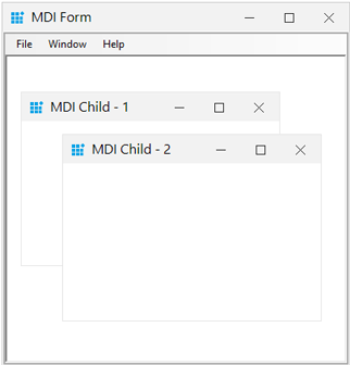 MDI form support of windows forms form