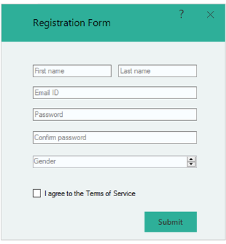 appearance customization of windows forms form