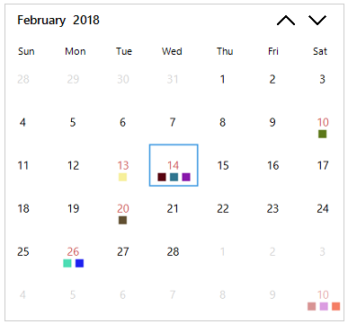 Windows Forms calendar appointments