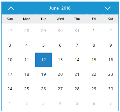 Windows Forms calendar month view