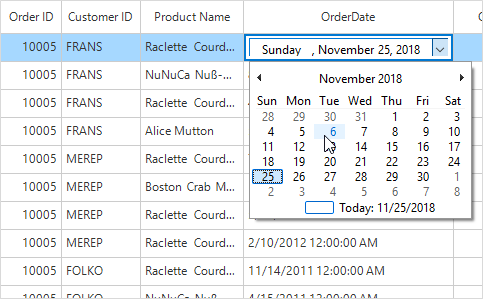 winforms datagrid shows custom column type