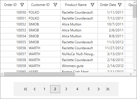 paging support in winforms datagrid