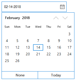 WinForms DateTimePicker disable dates between minimum and maximum Date-Time value