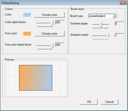 Built-in dialog used to customize the nodes appearance in diagram control for WinForms
