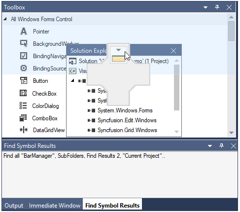 WinForms Docking Manager restrict docking on specific sides