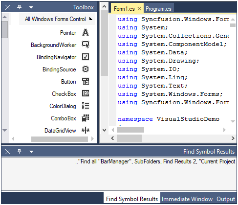 WinForms Docking Manager displays content in right to left