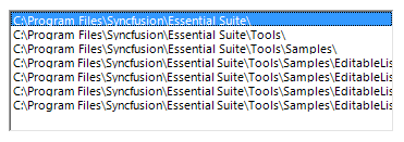 WinForms Editable ListBox | Windows Forms | Syncfusion