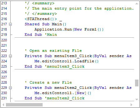 WinForms Syntax Editor displays intellisense for complete words in code editing