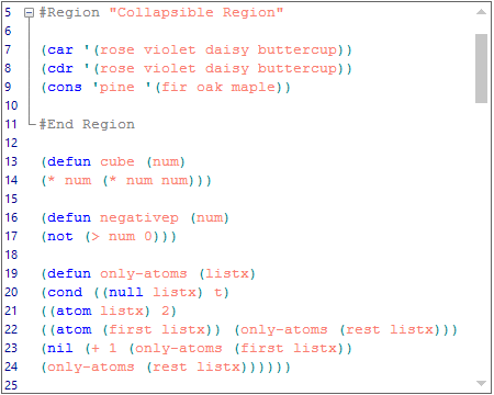 WinForms Syntax Editor highlighting the code using user defined keywords and operators