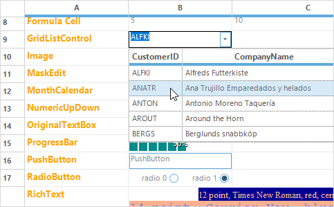 winforms grid control editing