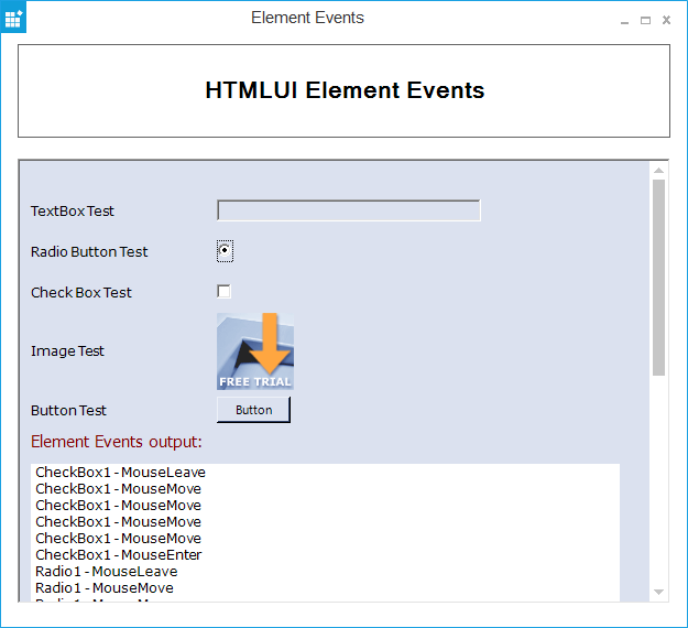 Windows Forms HTMLUI custom representation of elements