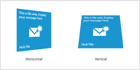 Windows Forms hub tile horizontal/ vertical rotation