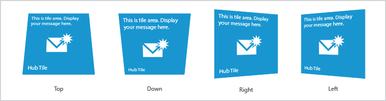 Windows Forms hub tile slant at different side based on selection point