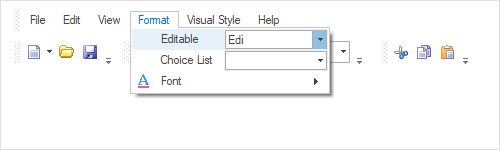 Item types in Windows Forms mainframe bar manager