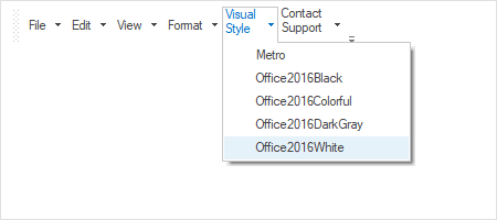 Multi-line text  support in Windows Forms mainframe bar manager