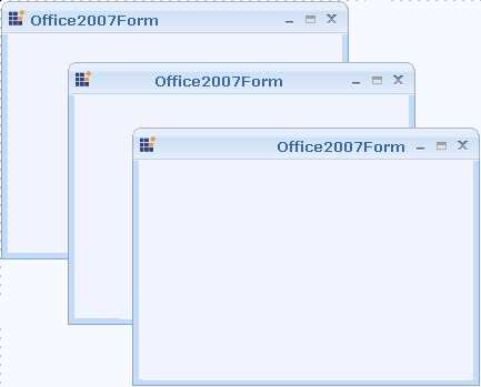Windows Forms office 2007 form caption alignment