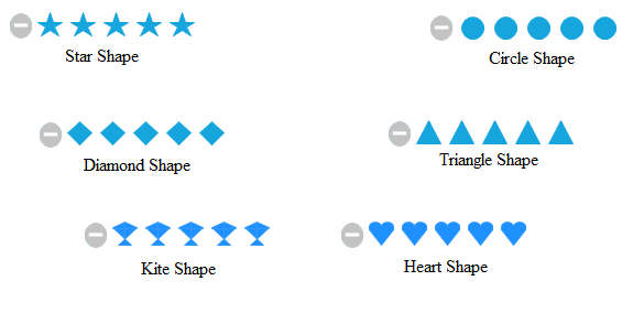 windows forms rating control with different shapes