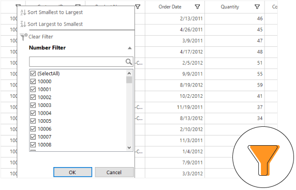 Windows Forms DataGrid Filter
