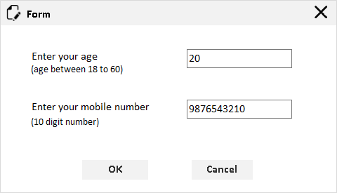 numeric textbox with defined range in form window
