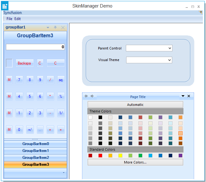 WinForms Skin (Theme) Manager Component | Syncfusion