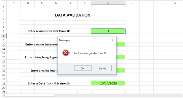 Data validation for a cell or range of cells in WinForms Spreadsheet