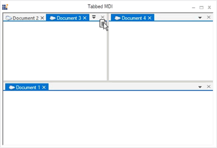 TDI groups - Tabbed Document Interface