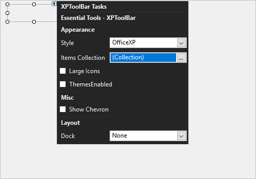 Adding controls in toolbar in Windows Forms XPToolBar