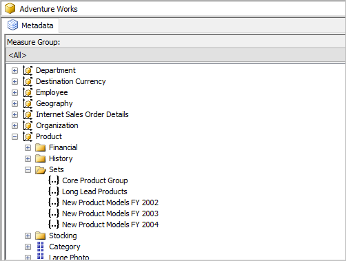 Named sets support in WPF OLAP chart control