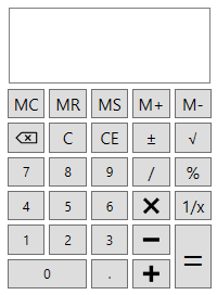 wpf calculator control