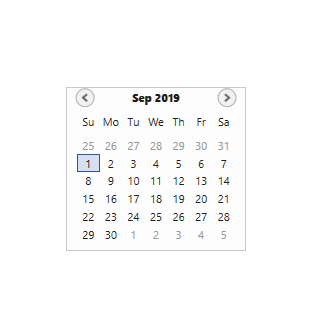 days and months abbreviations in WPF Calendar control