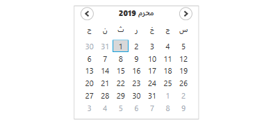 Globalization in WPF Calendar control