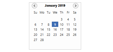 date-restricted in WPF Calendar control