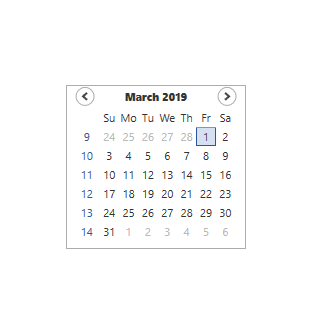 week numbers displayed in WPF Calendar control