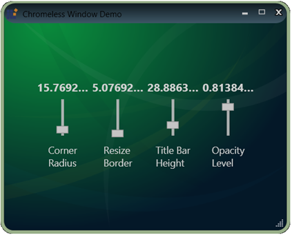 wpf chromeless window