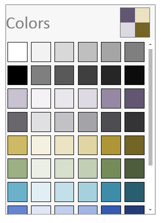 wpf color palette control
