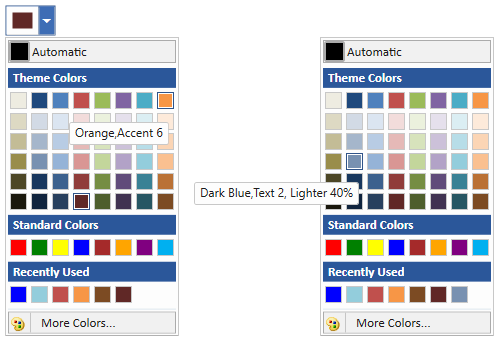 wpf color picker palette in normal and expand mode