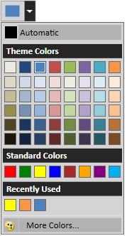 wpf color picker palette in office2016 colorful theme