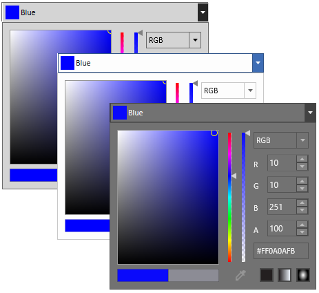 wpf ColorPicker control in different styles