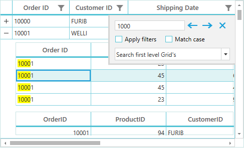 Text searching in WPF datagrid