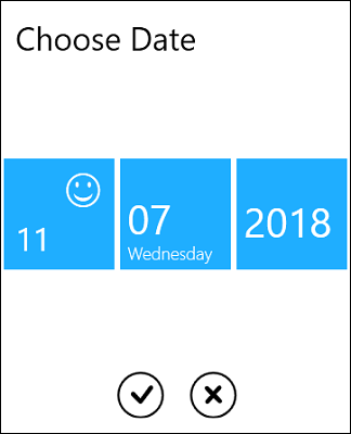 wpf datepicker with custom UI for date selection