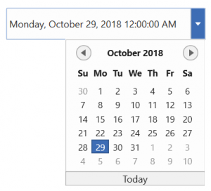 wpf datetimepicker displays both date and time